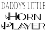 Daddy's Little Horn Player Kids and Baby Tees