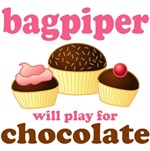 Bagpiper Chocolate T-shirts / Gifts