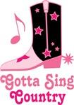 Gotta Sing Country Music T-shirts