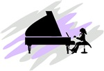 Pianist Music Silhouette T-shirts