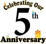 5th Anniversary Party Gift T-shirts