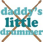 Daddy's Little Drummer Kids Music T-shirts