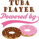 TUBA PLAYER POWERED BY DONUTS T-shirts