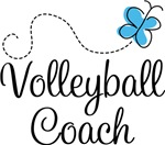Volleyball Coach Butterfly T-shirts and Gifts