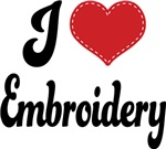 I Heart Embroidery T-shirts and Gifts