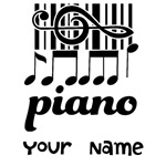 PERSONALIZED PIANIST GIFTS | T-SHIRTS