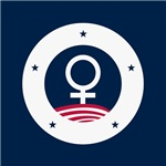 Female Symbol Red White and Blue America