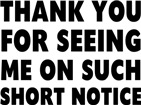 Thank You Notice