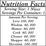 Nutrition Facts on a Niece!