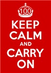 100th Birthday Gifts, Keep Calm & Carry On!