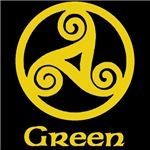 Green Celtic Knot (Gold)