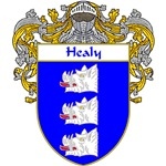 Healy Coat of Arms (Mantled)