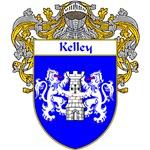 Kelley Coat of Arms (Mantled)