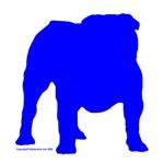 Blue Bulldog Silhoutte