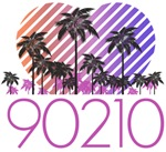 90210 Retro Palm Trees T-Shirts