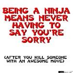 Ninja - Saying you're sorry