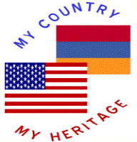 USA / Armenia Flag Country Heritage