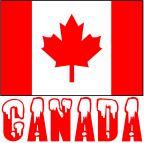 Canada Word & Flag Snow