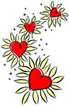 Heart Daisies T-shirts & Gifts