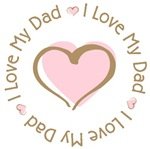 I love my Dad Pink Heart T-shirts Gifts
