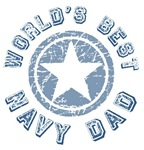 World's Best Navy Dad T-shirts Gifts