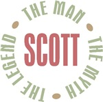 Scott the Man the Myth the Legend T-shirts Gifts