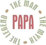 Papa the man the myth the legend T-shirts Gifts