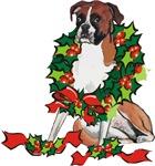 Boxer in Wreath