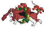 Basset in Wreaths 2