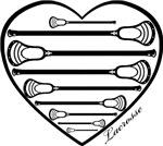 Lacrosse Heart Sticks