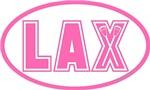 Lacrosse Pink Oval Lax