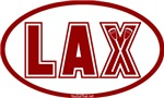 Lacrosse Lax Oval Red