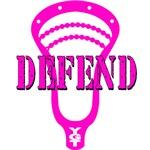 Lacrosse Defend Head Pink