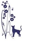 Dark Flowers 'N' Kitty Design