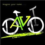 David green and yellow bike