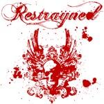 Restrayned Skull Wings in Blood Red