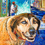 Catahoula Heaven painting by K.Rockwell
