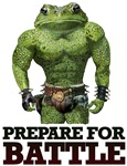 """""""PREPARE FOR BATTLE"""" SAYS TOAD"""