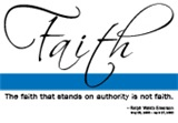 Faith - Emerson Quote