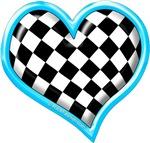 Turquoise Racing Heart