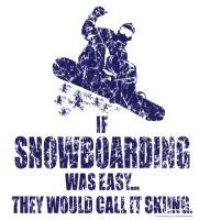If Snowborading was Easy