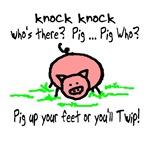 Knock Knock Pig