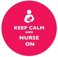 Keep Calm and Nurse On Bright Pink
