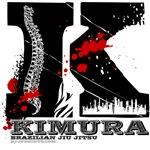 BJJ Kimura shirts - spine design