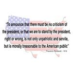 Teddy Roosevelt - 1918 Quote
