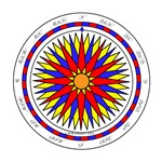 Mariner's Sunrise Compass Rose
