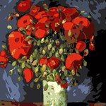 Van Gogh Vase with Red Poppies