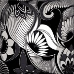 Black & White Art Deco Floral