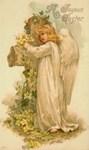 Joyous Easter Angel Vintage Floral