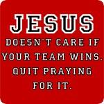 Jesus: Not a Sports Fan